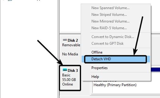 simply eject the virtual hard drive by right-clicking