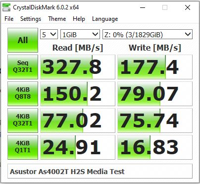 Crystal-Benchmark-test-Asustor-AS4002T-Single-Drive