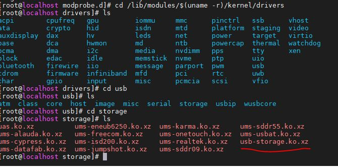 Diable USB storage in Centos Linux