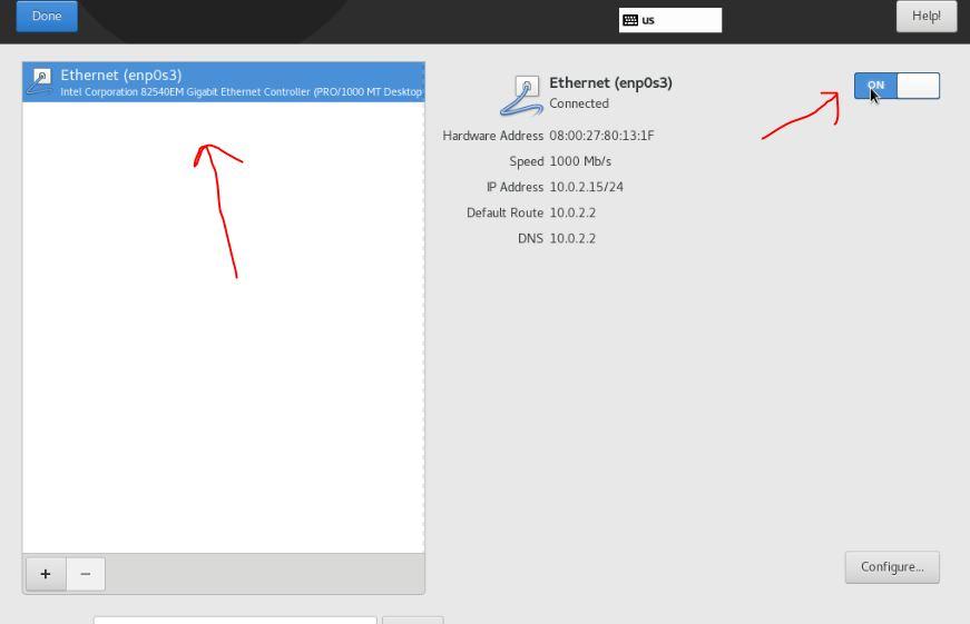 Enable-Netwrok-on-CentOS-virtualbox