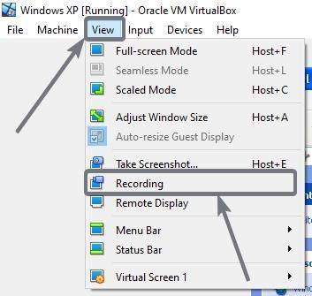 Enable screen recording on VirtualBox 20