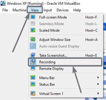 Record virtualbox screen
