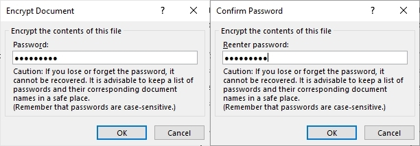 You can use any password to protect your document