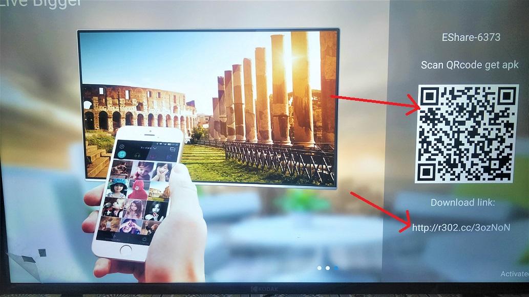 Eshare app connection and setup on smart TV