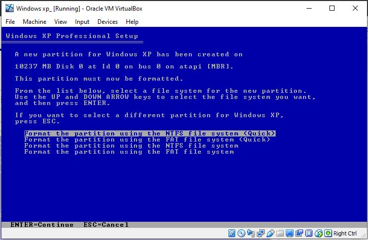 Format-partion-using-NTFS-quick