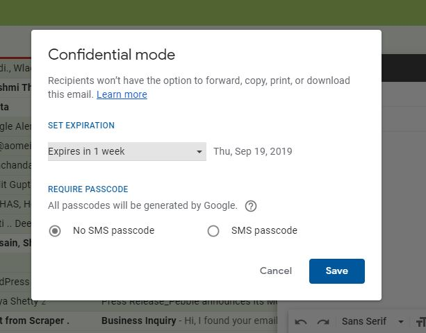 Gmail confidential mode tutorial