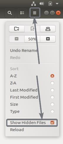 Show Hidden Files ubuntu
