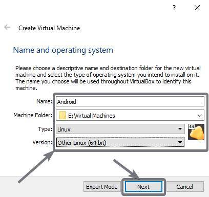 Configuring the virtual machine