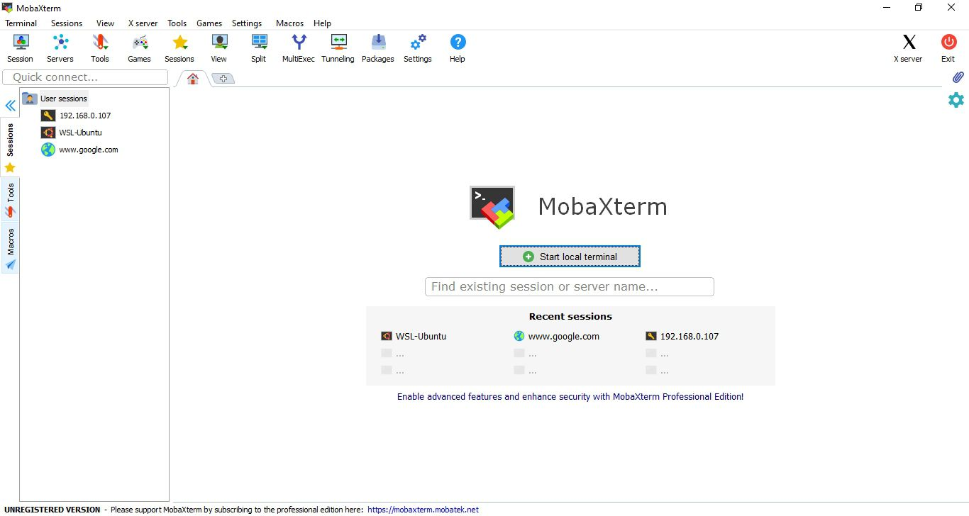 start MobaXterm on Windows 3