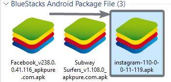 simplest way to install an APK on BlueStacks