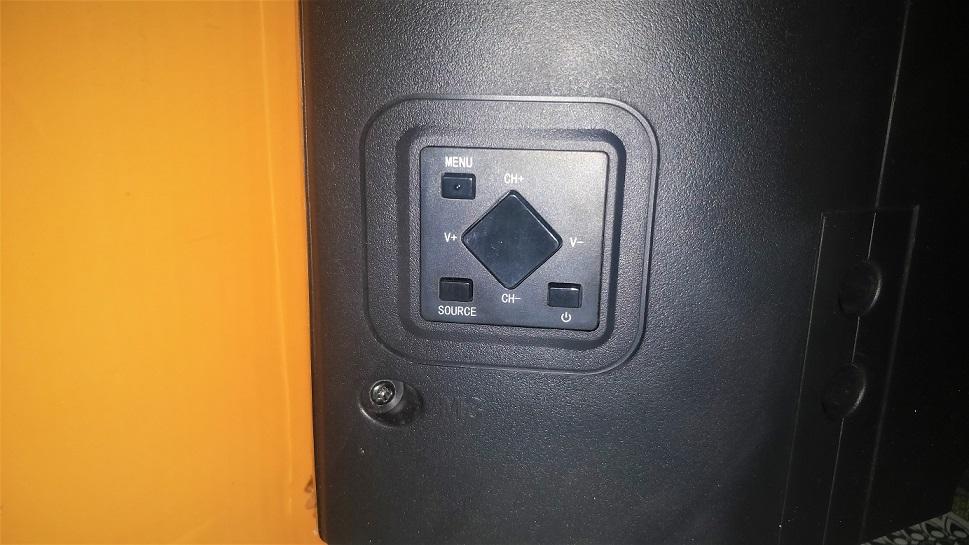 Kodak 4K XPRO Smart Tv side buttons