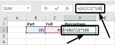 how to add percentage in excel