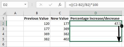 Percentage on Excel 11