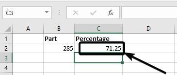 excel percentile formula