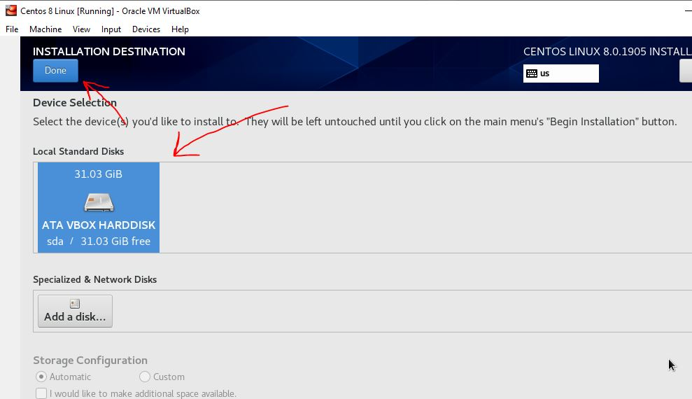 Select-the-drive-for-installation-of-Linux-CenTOS