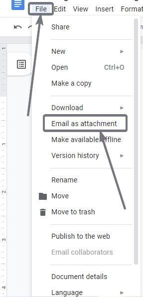 Send email directly from Google Docs 1