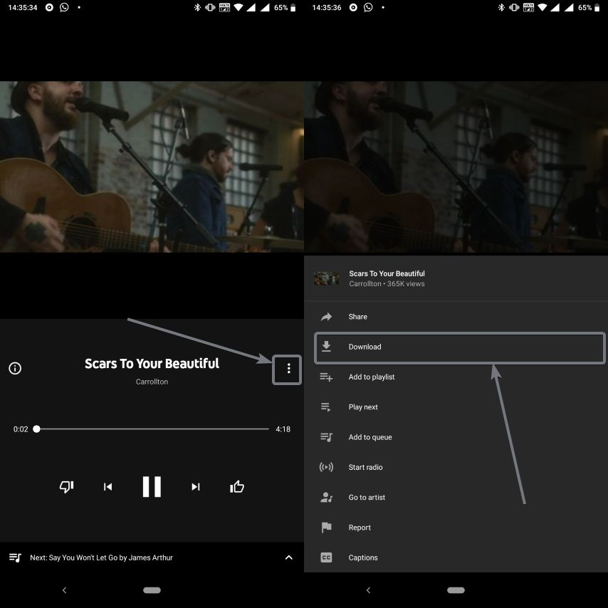 remove songs and playlist downloaded by YouTube Music