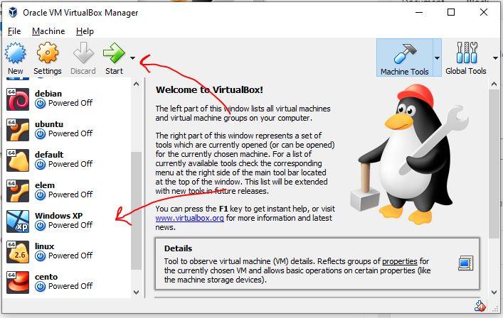 Start-Windows-XP-virtual-Machine