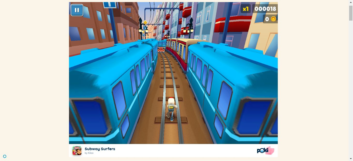 start playing the game of Subway Surfers