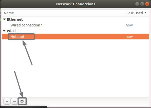 Change password Wi-Fi hotspot from the GUI