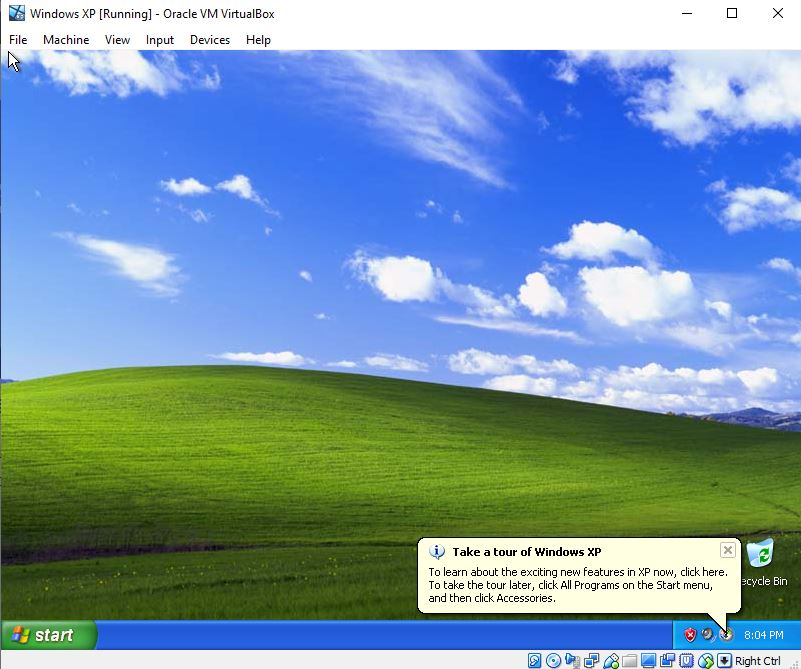 Window-XP-running-virtualBox-virtual-Machine