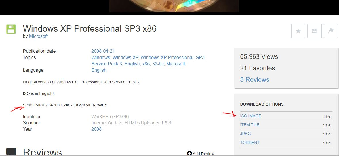 Windows XP Professional SP3 x86 ISO download