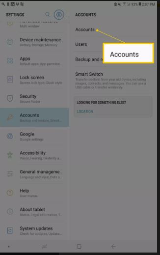 delete Google account form Android phone