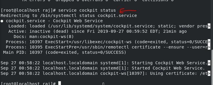 start cockpit web service