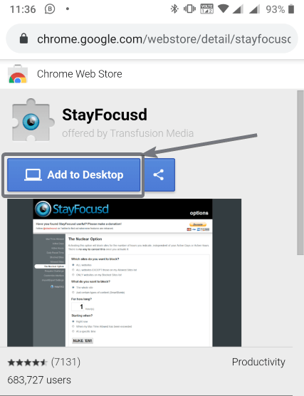 Add Chrome addons from Android 1