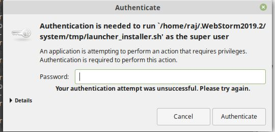 Authenticate the installation