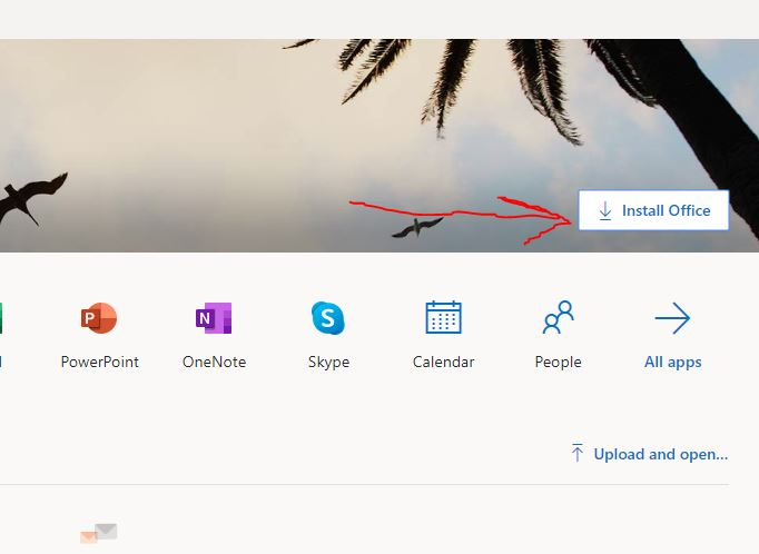 Login to office.com and click on Install office button