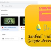 Embed videos from Google Drive on WOrdpress blog wihout iframe