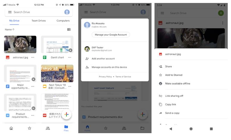 Google Docs, Sheets, and Slides Android apps got new look