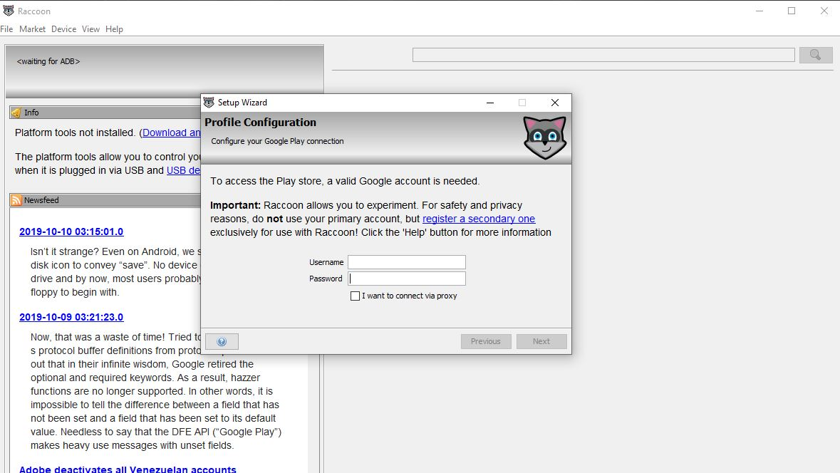 How to use Raccoon APK downloader