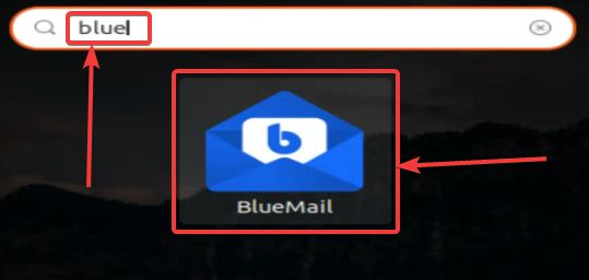 Bluemail launcher