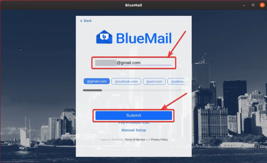 Add mail in Mail ID to the client