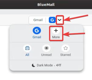 add multiple email accounts to BlueMail,