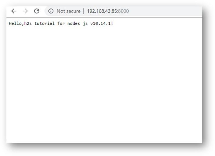 Node js web server on Centos 8 linux