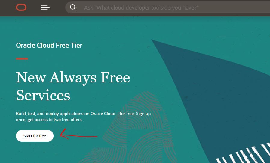 Oracle Cloud Free tier signup