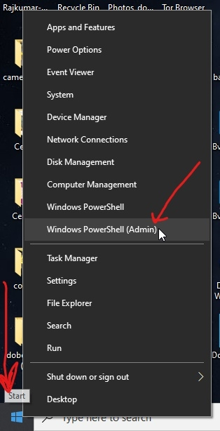 Run Windows 10 power shell as administrator