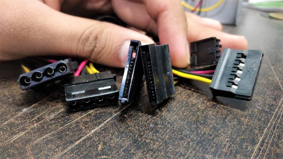 SATA and Molar connectors