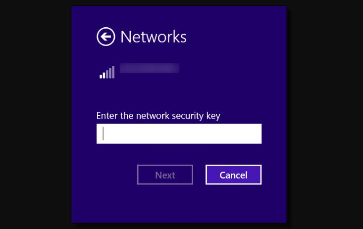 Secure the network with a password