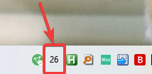 GPU temperature monitor number in Windows taskbar