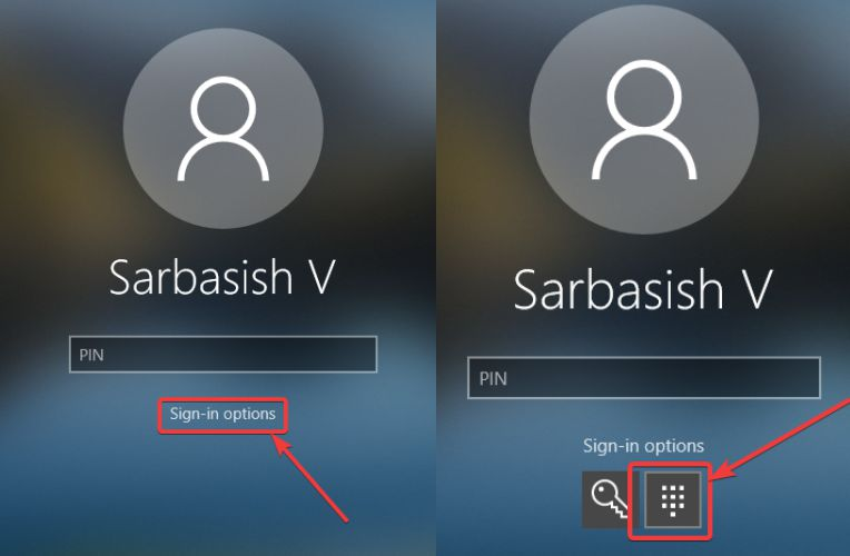change password to pin on windows 10 login screen