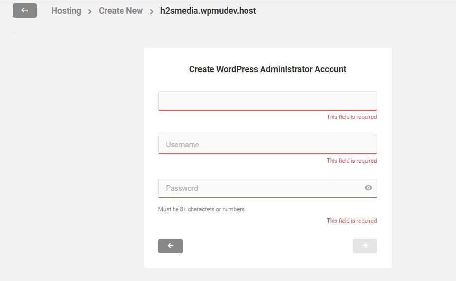 create wordpress administrative account