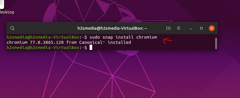 install Chromium on Ubunu 19.10 using SNAP