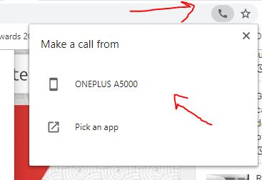 send call from Chrome PC browser