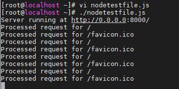 testing-Centos-8-Linux-installed-Nodejs