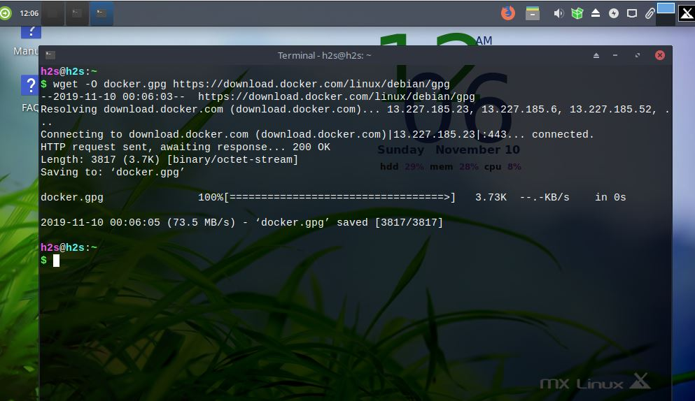 Add Docker repository on MX linux