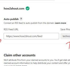 Add RSS feed URL in Pinterest